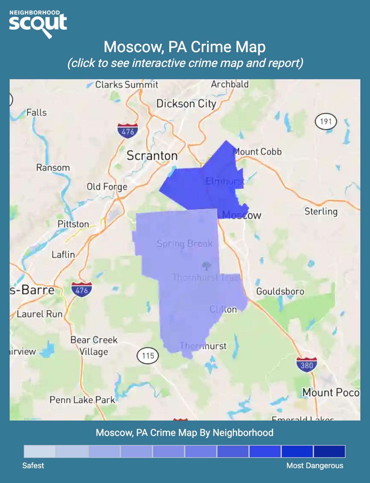 Moscow, Pennsylvania crime map