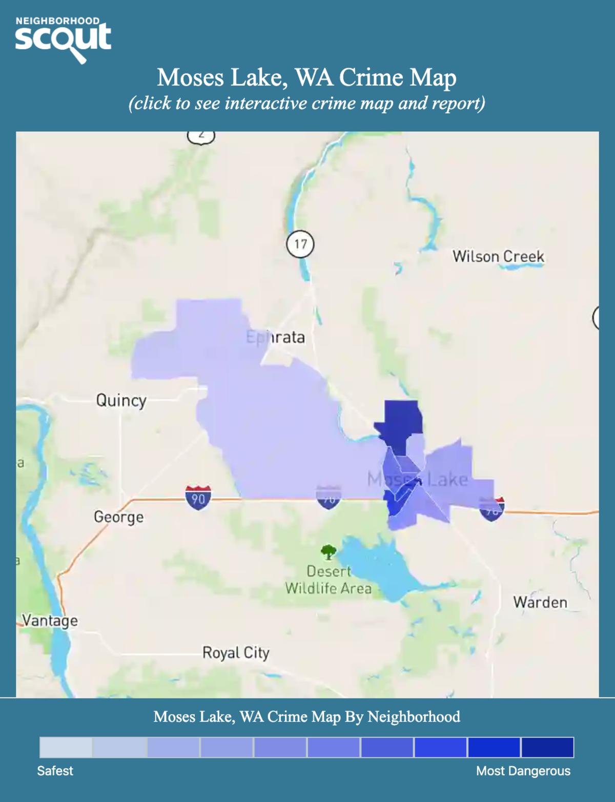 Moses Lake, Washington crime map