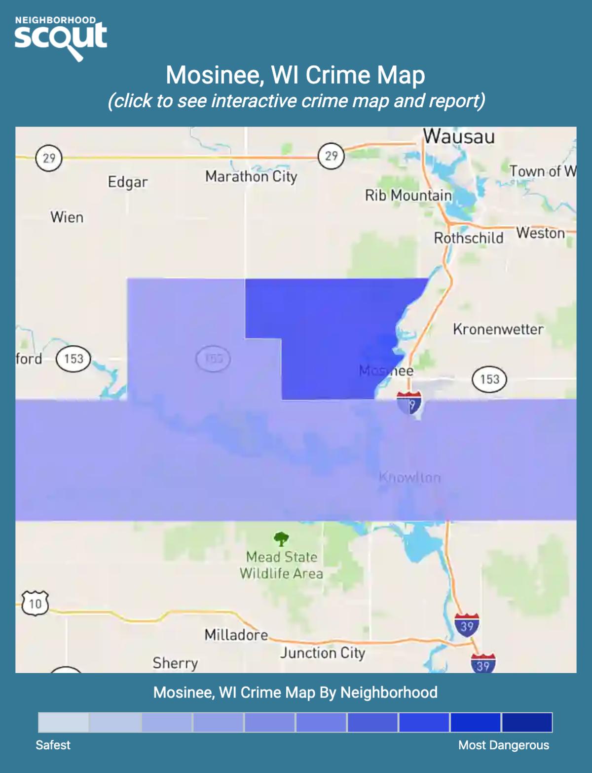 Mosinee, Wisconsin crime map