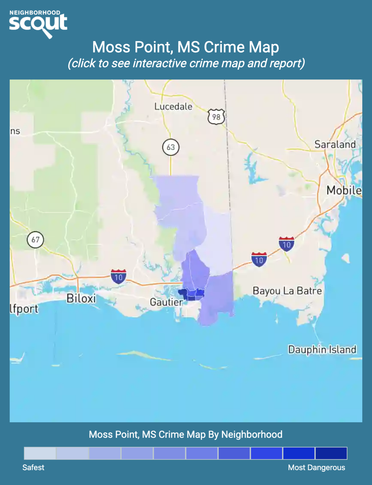 Moss Point, Mississippi crime map