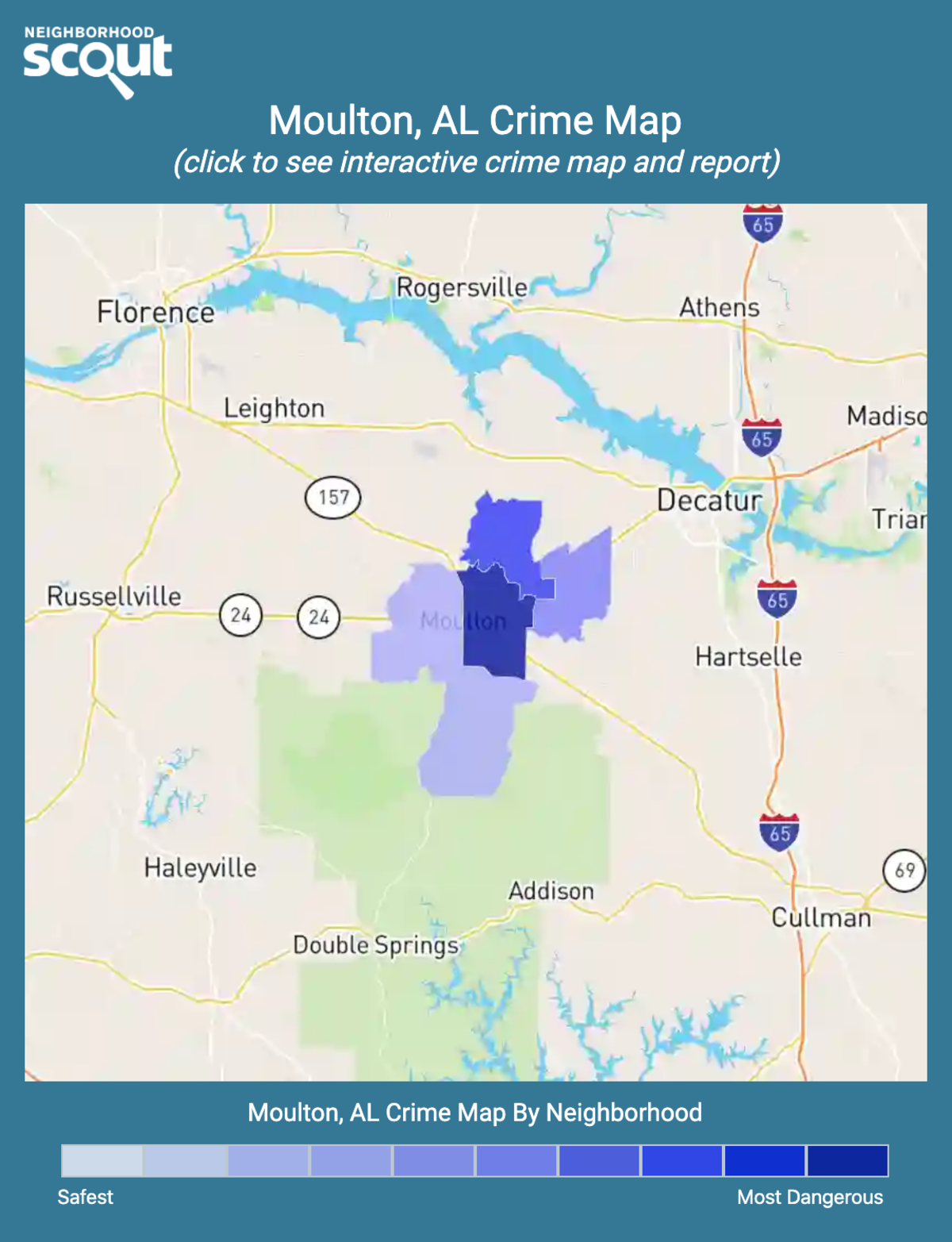 Moulton, Alabama crime map