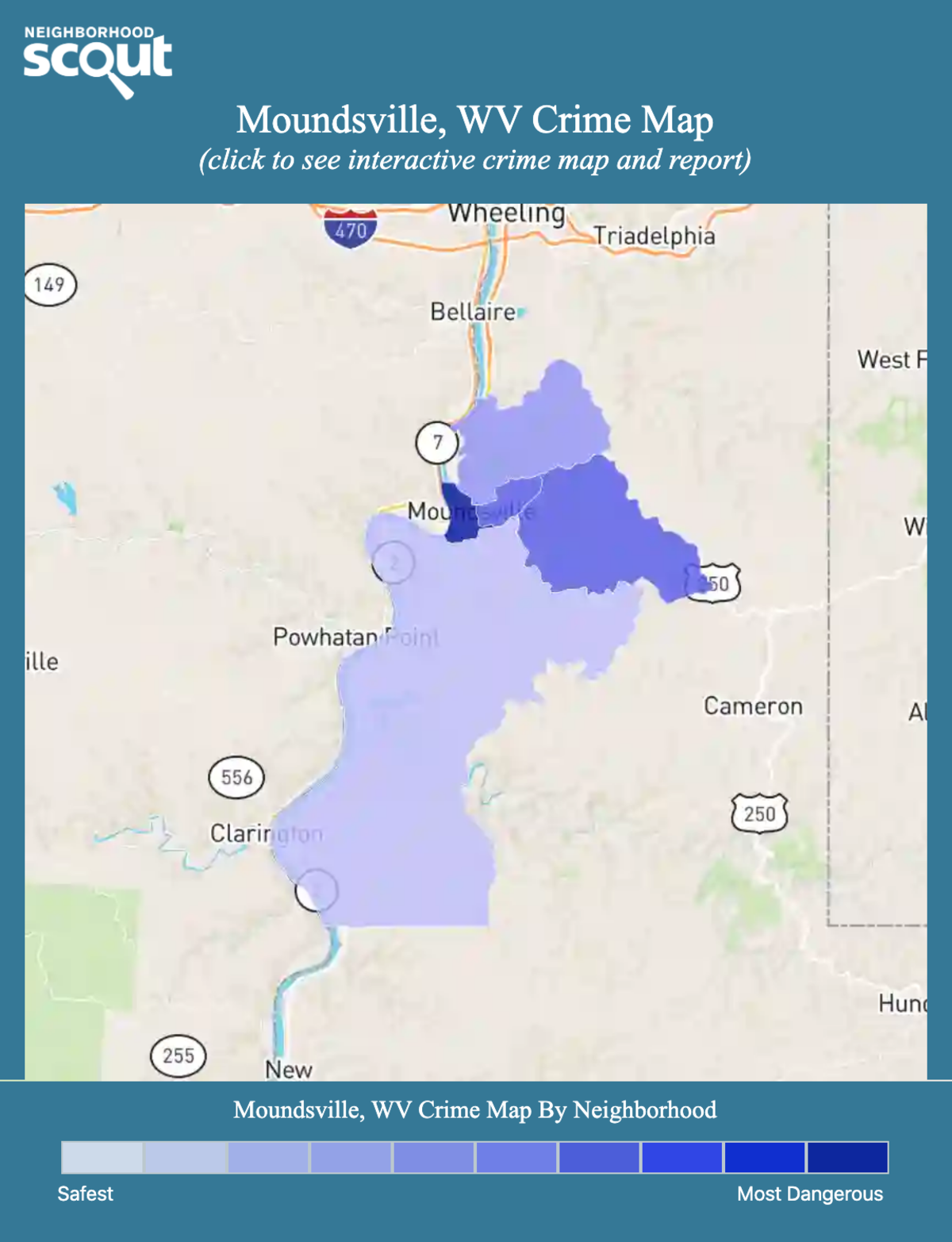 Moundsville, West Virginia crime map