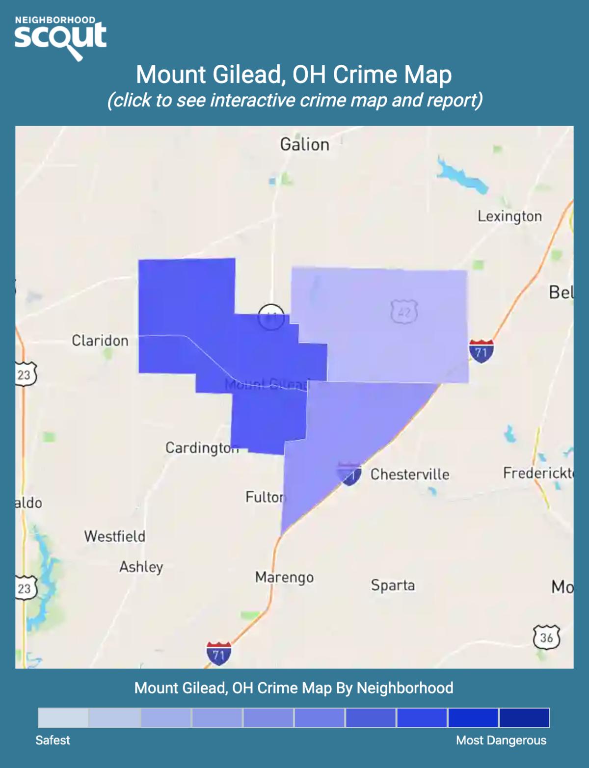 Mount Gilead, Ohio crime map