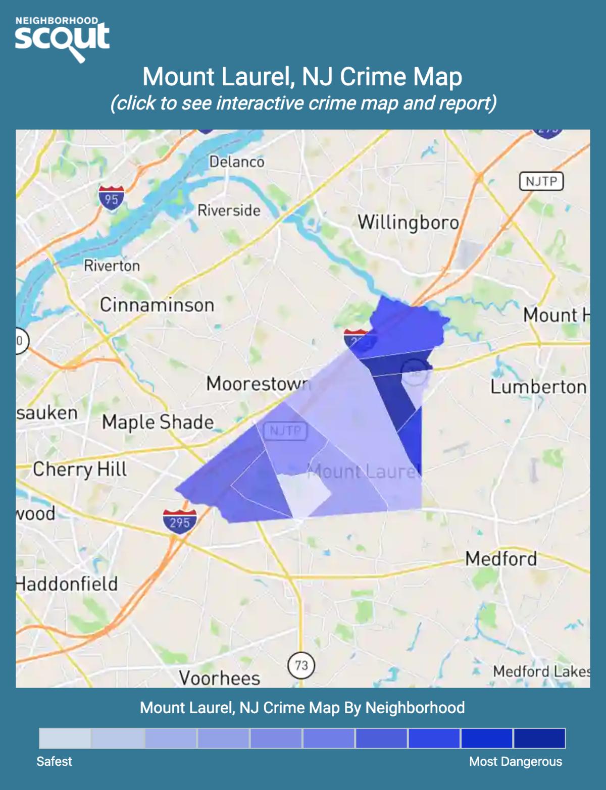 Mount Laurel, New Jersey crime map