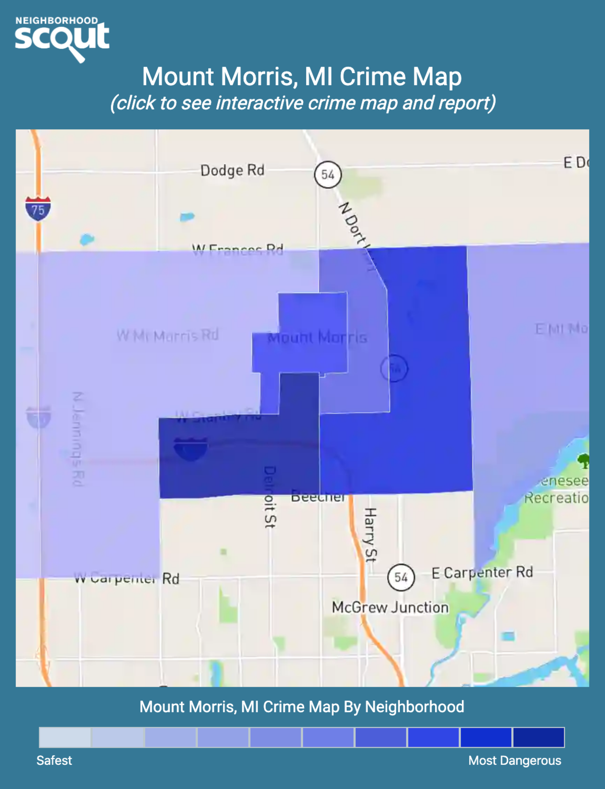 Mount Morris, Michigan crime map