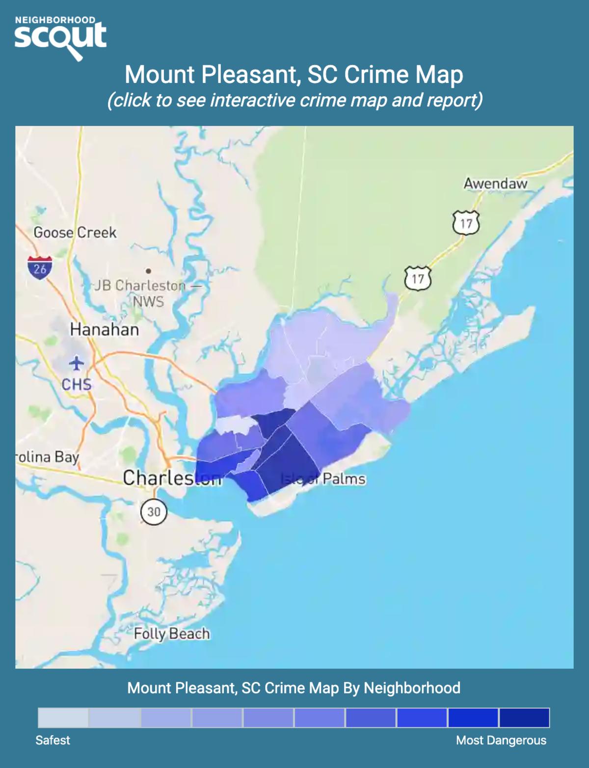 Mount Pleasant, South Carolina crime map
