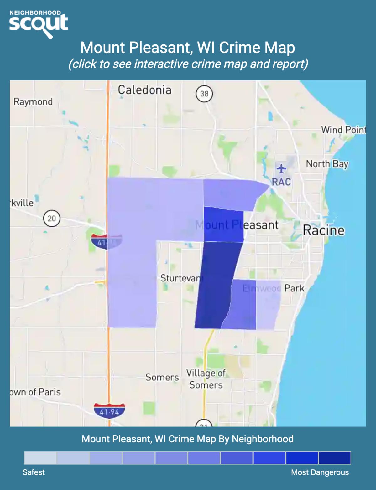 Mount Pleasant, Wisconsin crime map