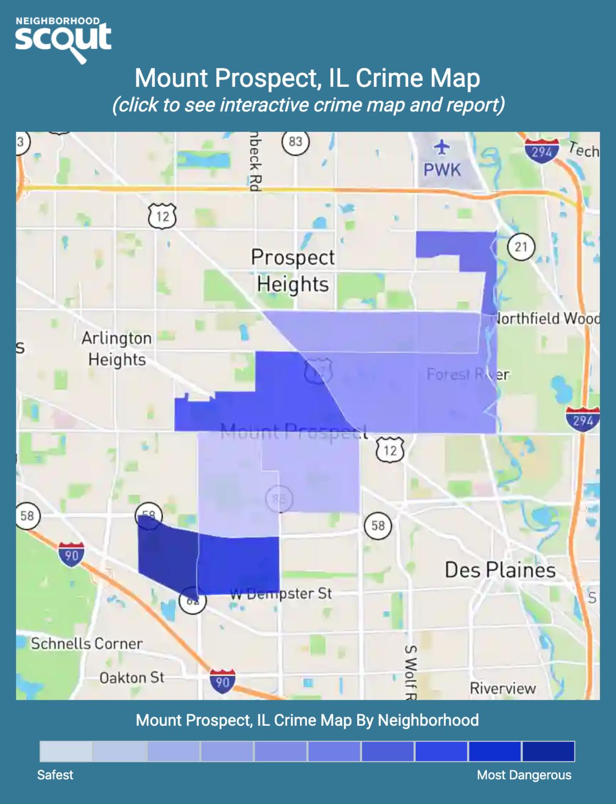 Mount Prospect, Illinois crime map