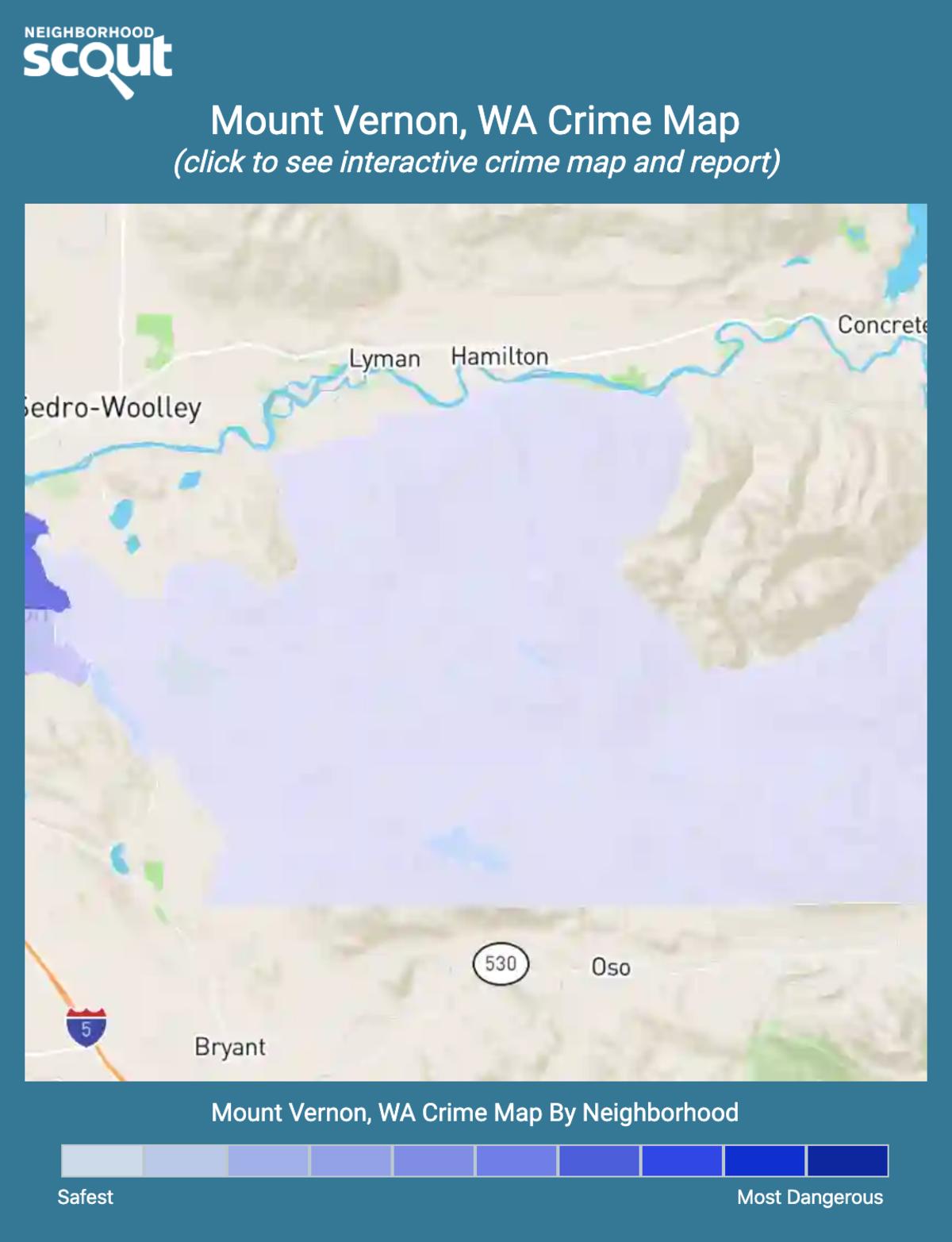 Mount Vernon, Washington crime map