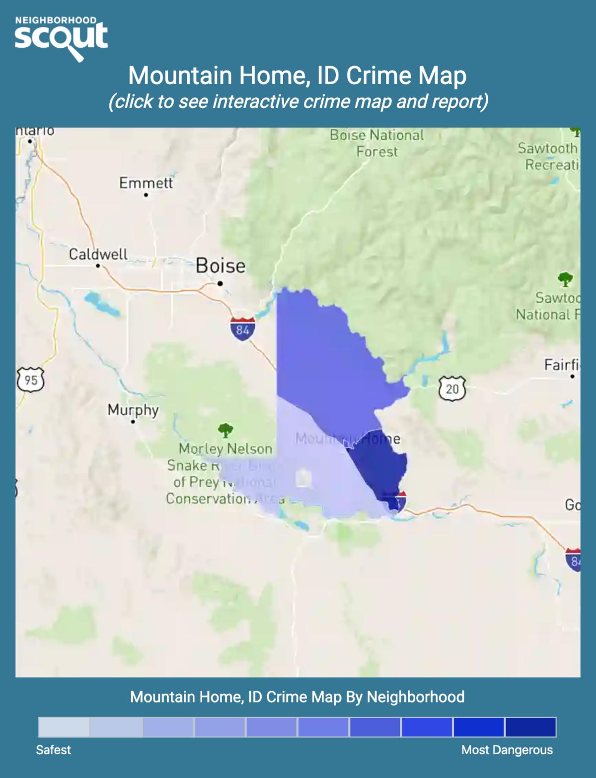 Mountain Home, Idaho crime map