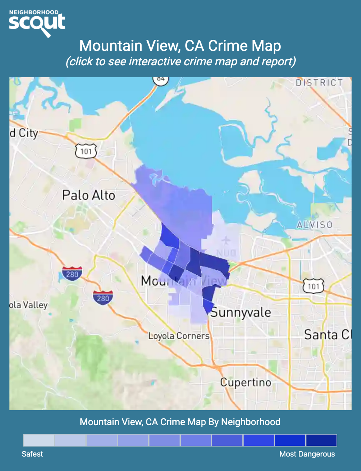 Mountain View, CA Crime Rates and Statistics - NeighborhoodScout