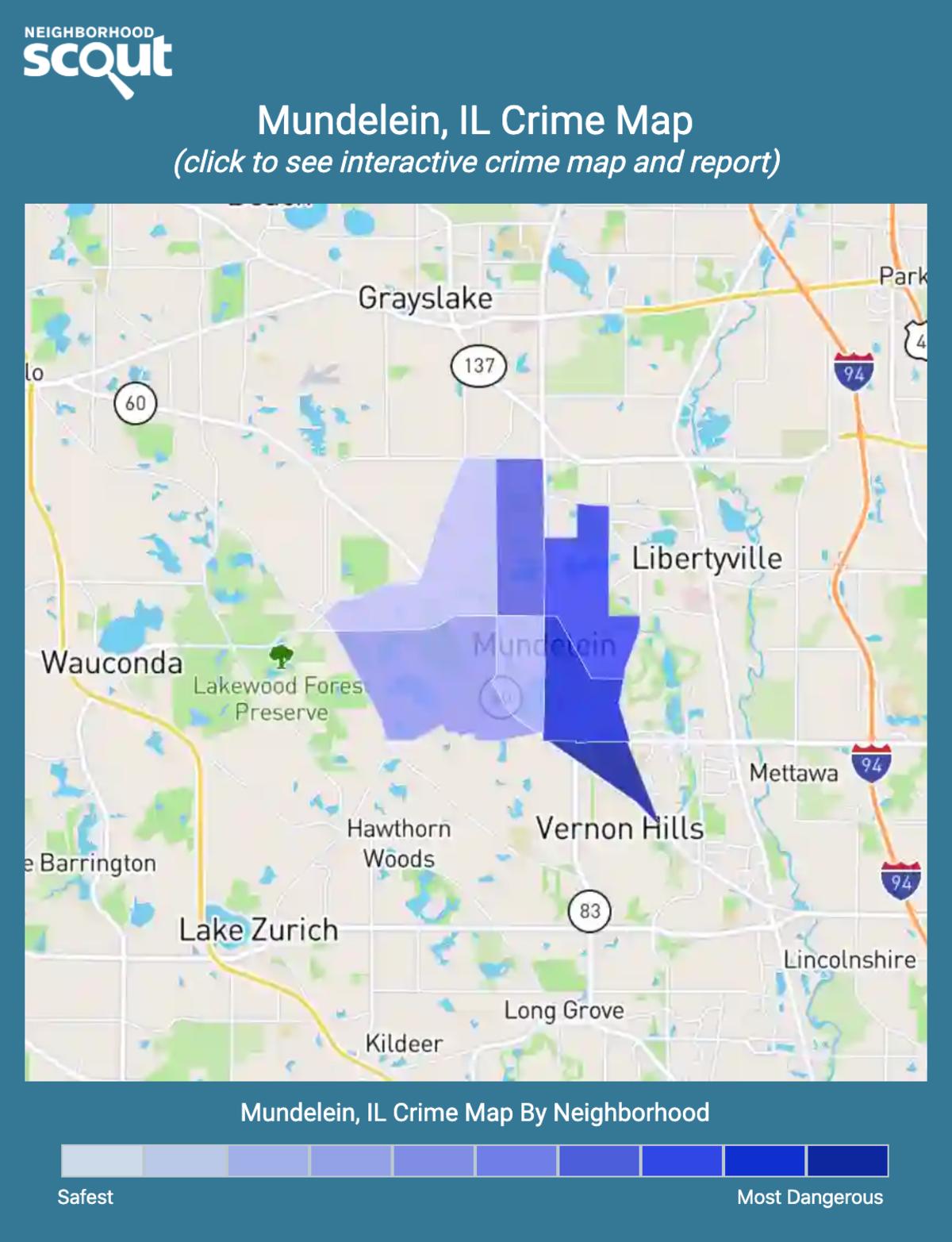 Mundelein, Illinois crime map
