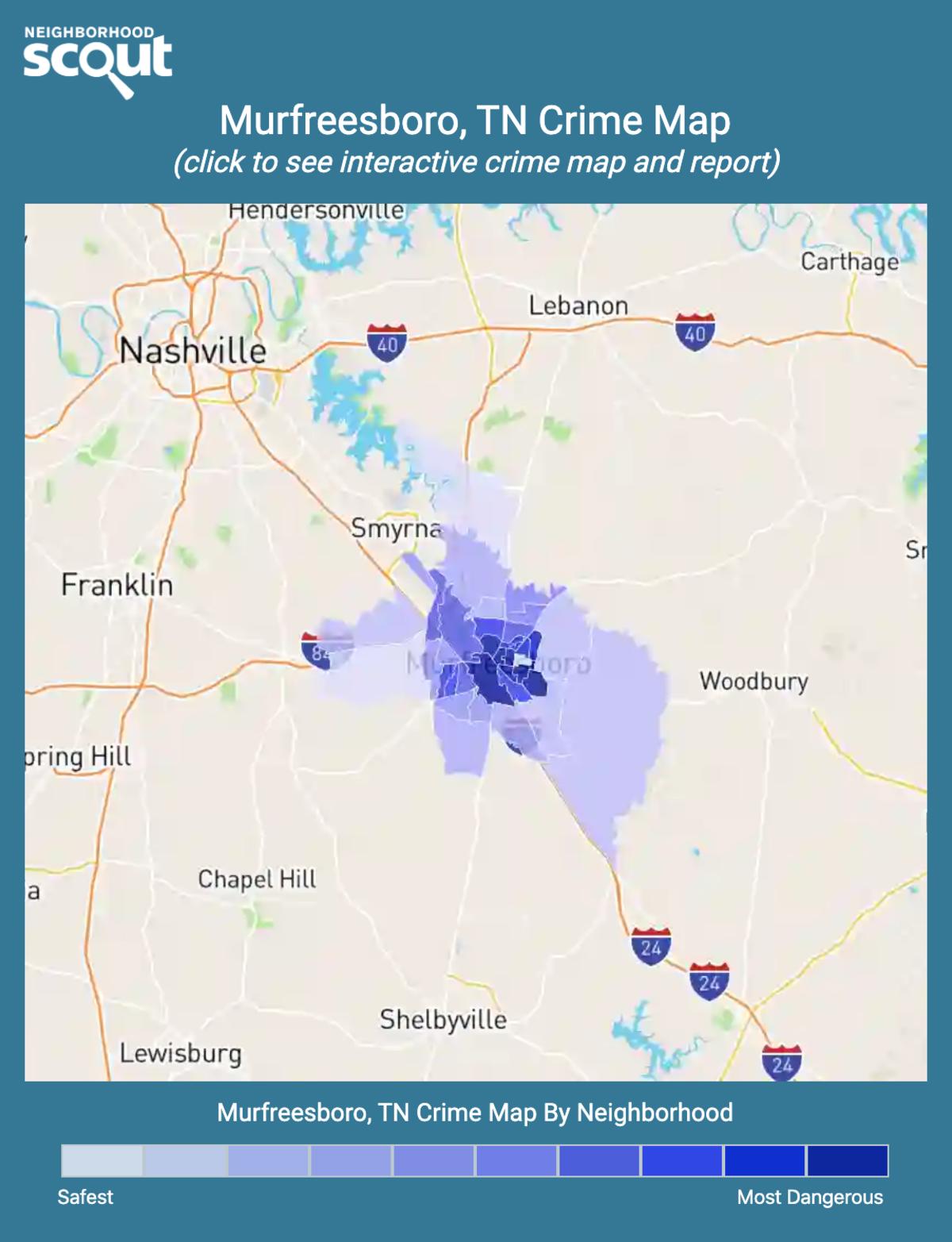 Murfreesboro, Tennessee crime map