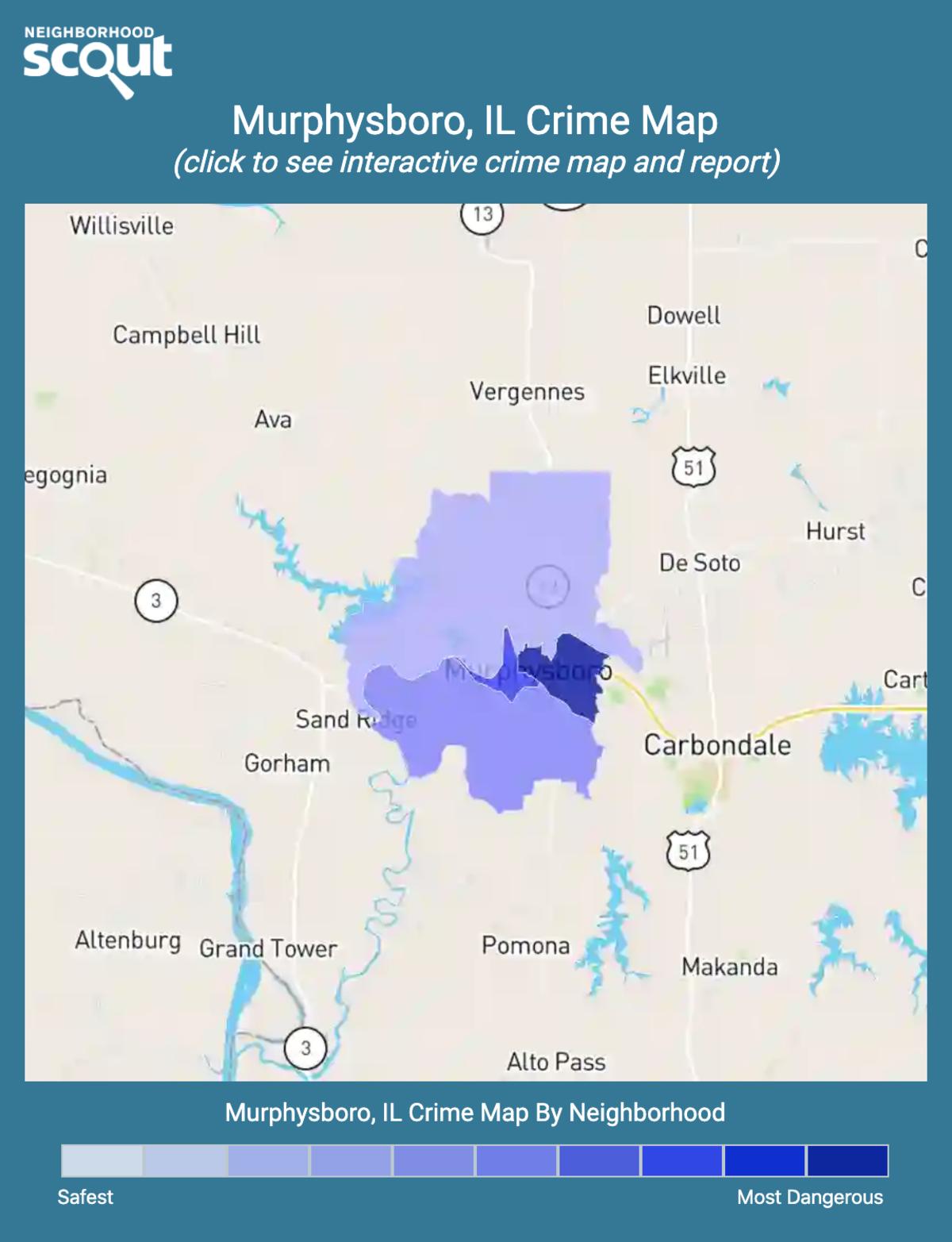 Murphysboro, Illinois crime map