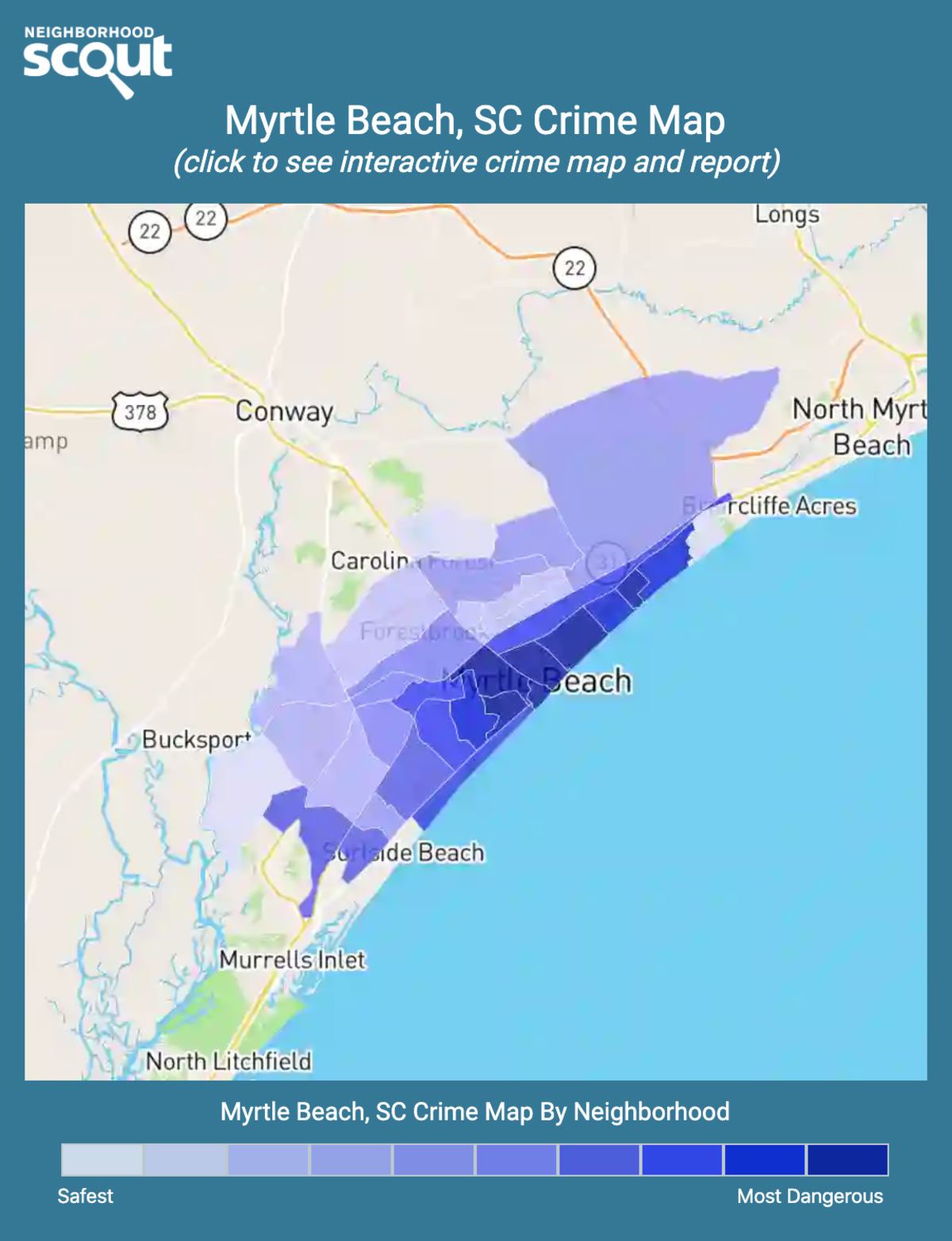 Myrtle Beach, South Carolina crime map