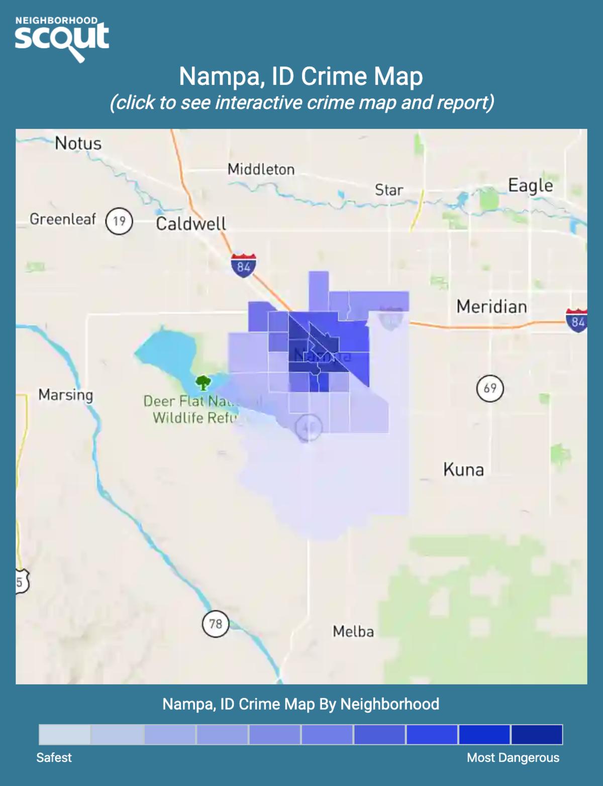 Nampa, Idaho crime map