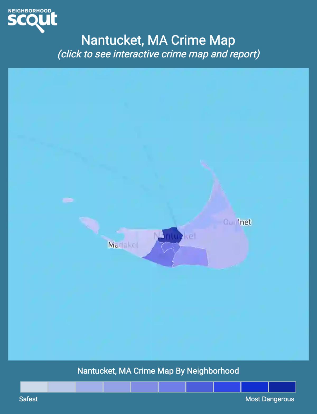 Nantucket, Massachusetts crime map