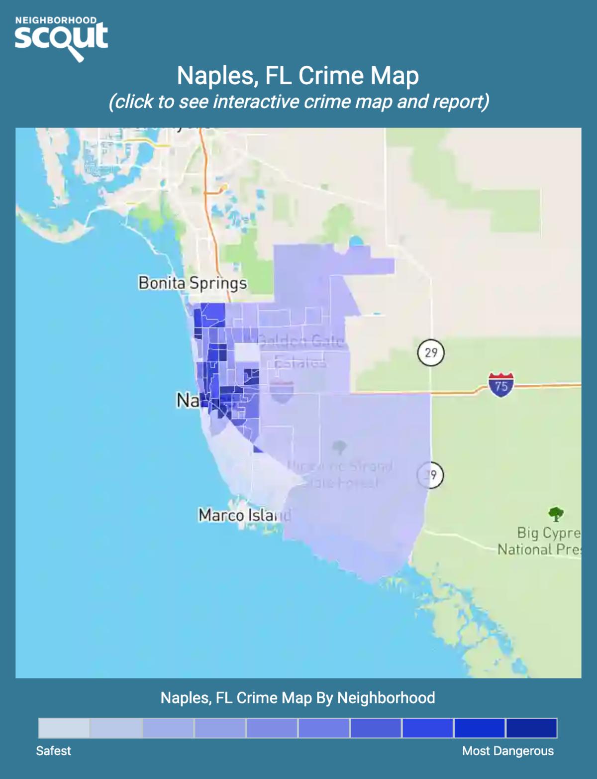 Naples, Florida crime map