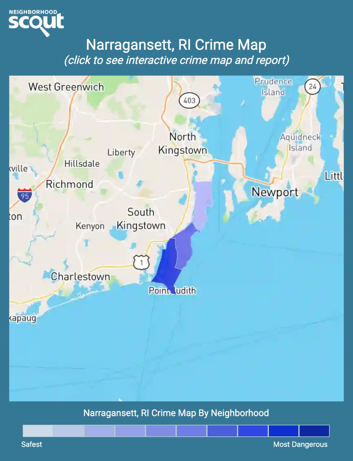 Narragansett, Rhode Island crime map