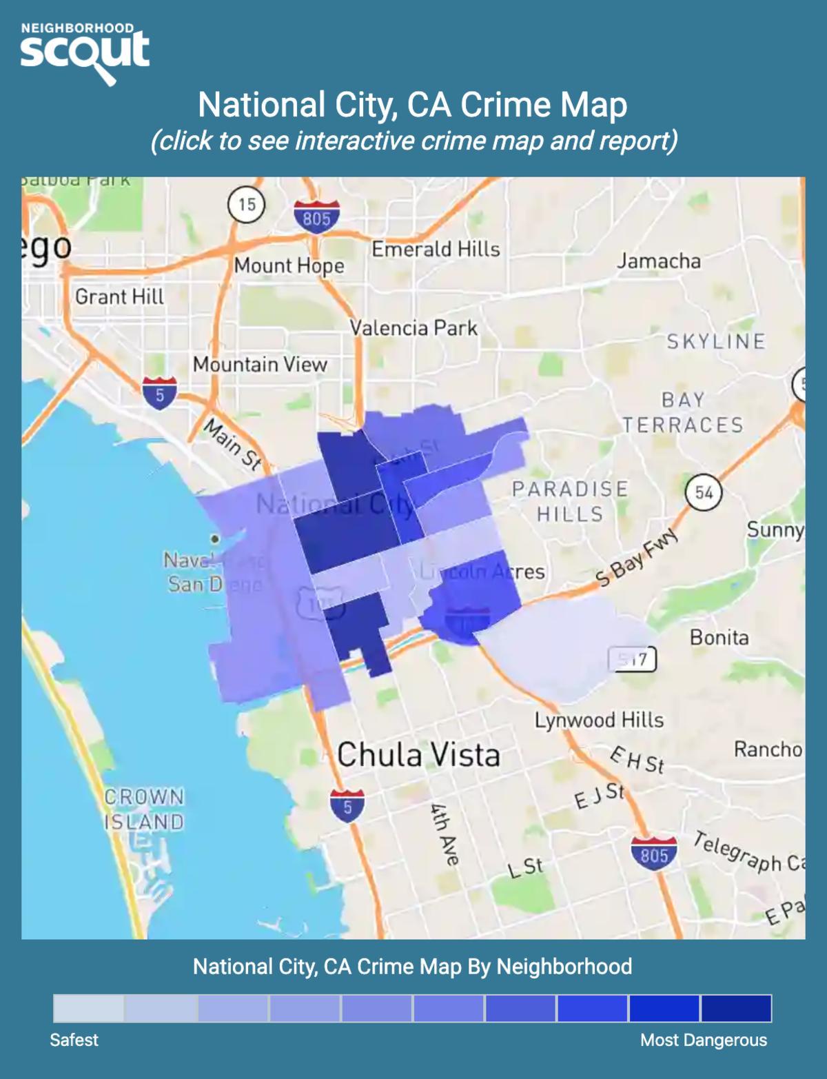 National City, California crime map