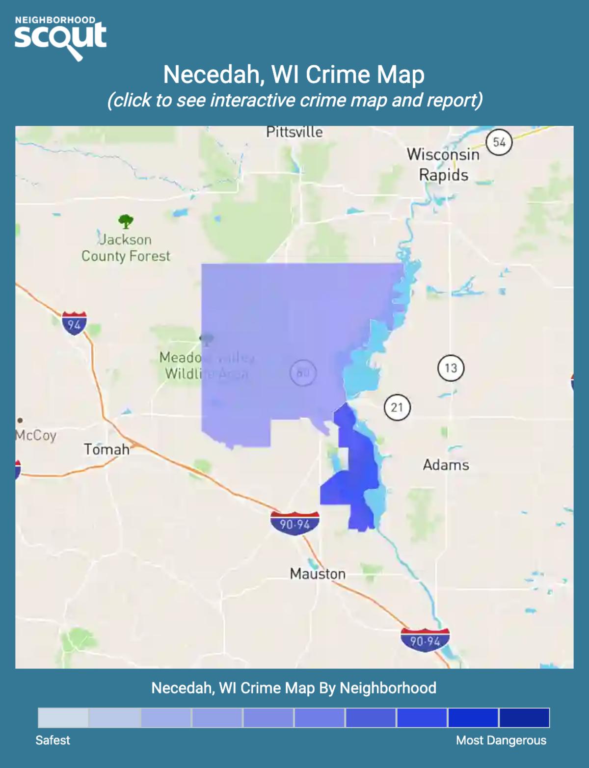 Necedah, Wisconsin crime map