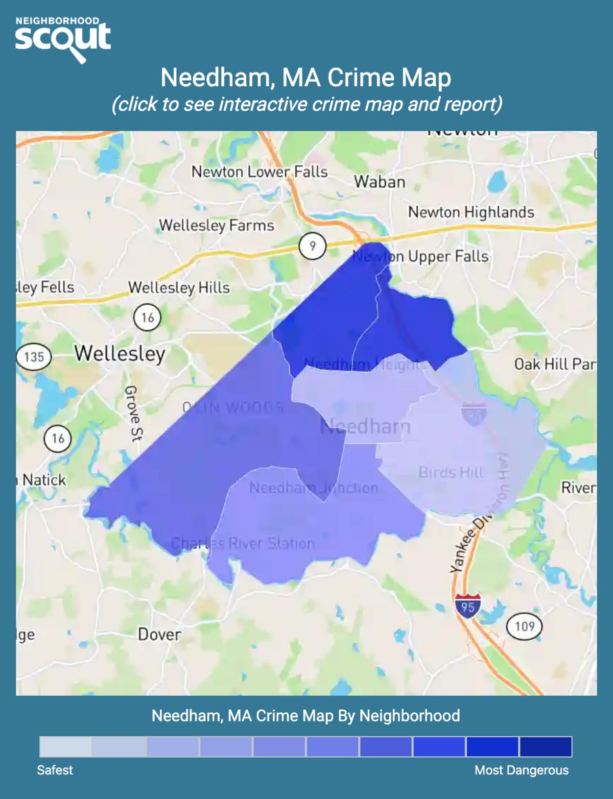 Needham, Massachusetts crime map