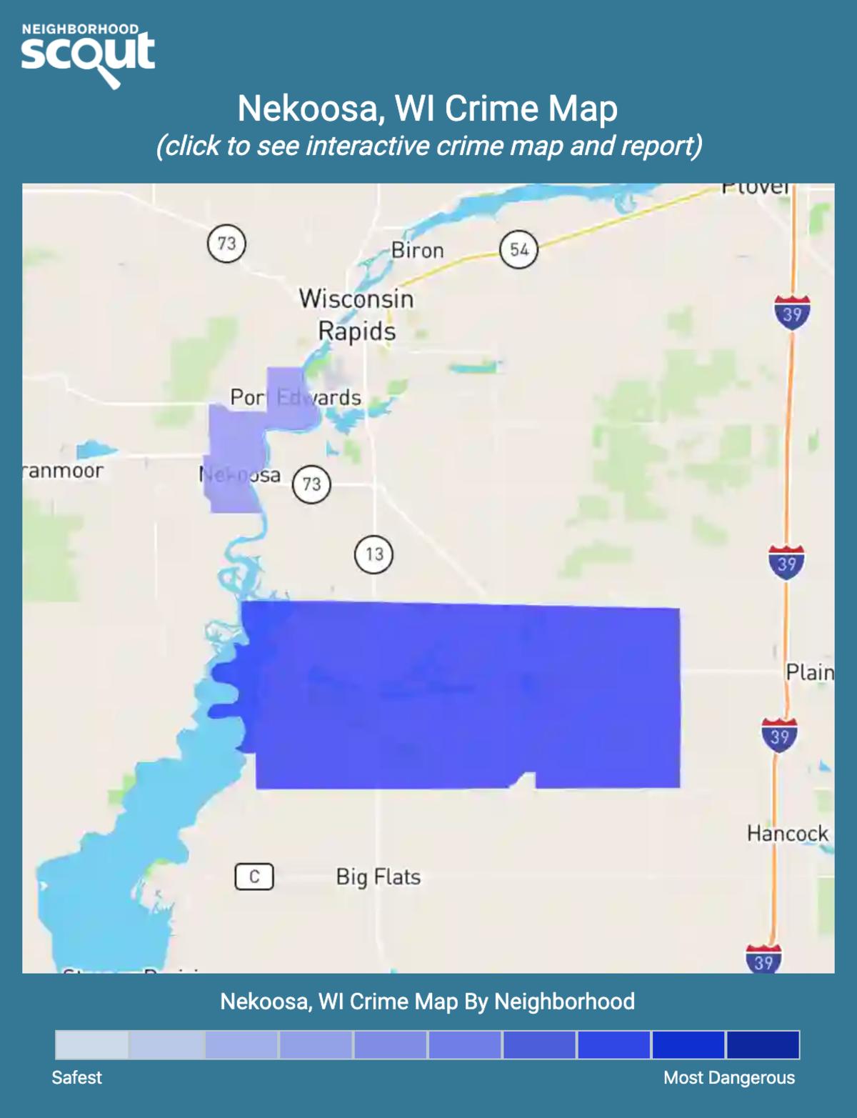 Nekoosa, Wisconsin crime map