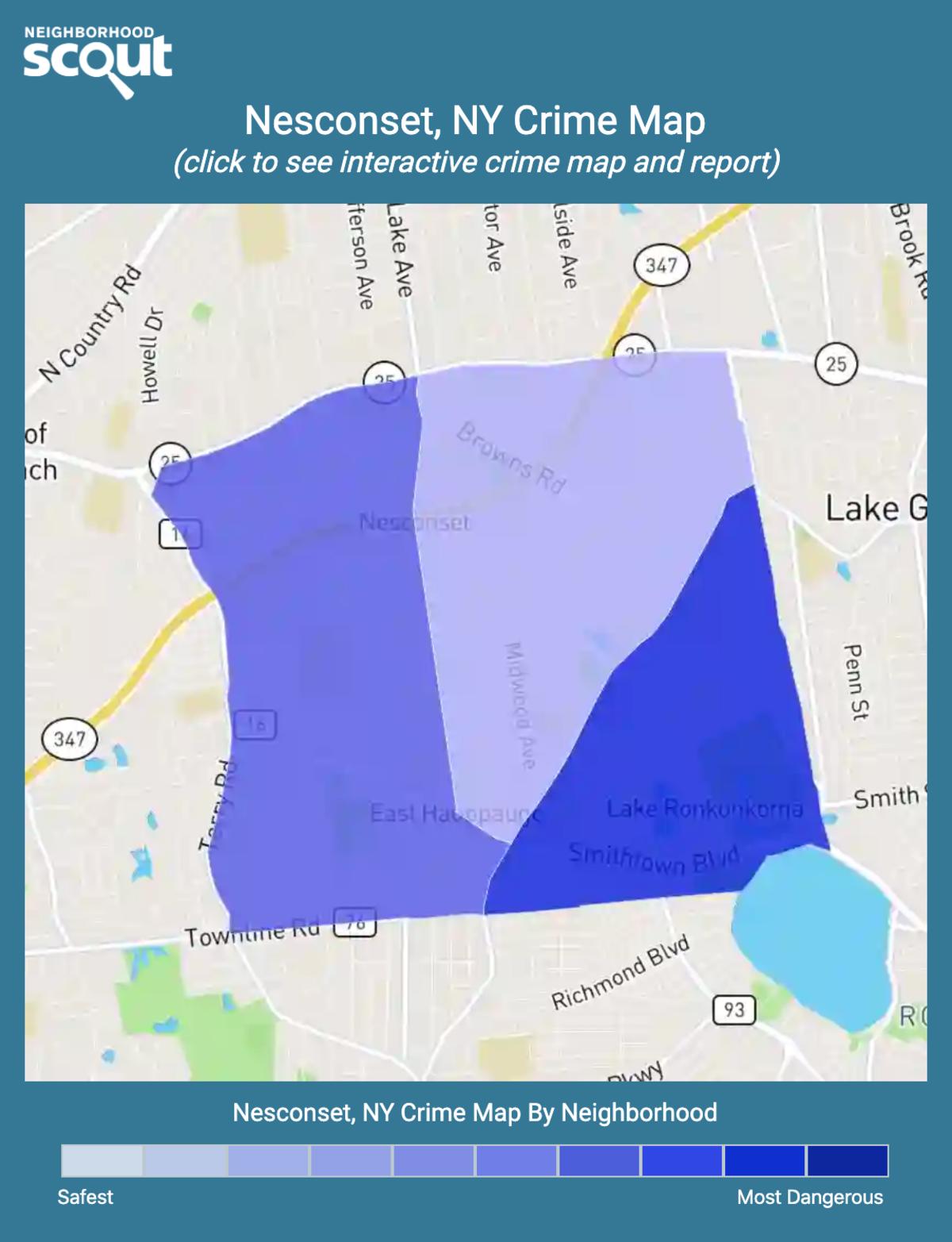 Nesconset, New York crime map