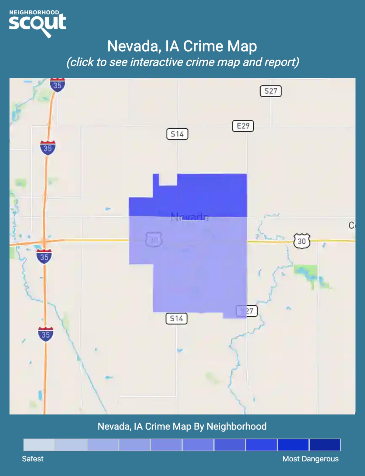 Nevada, Iowa crime map