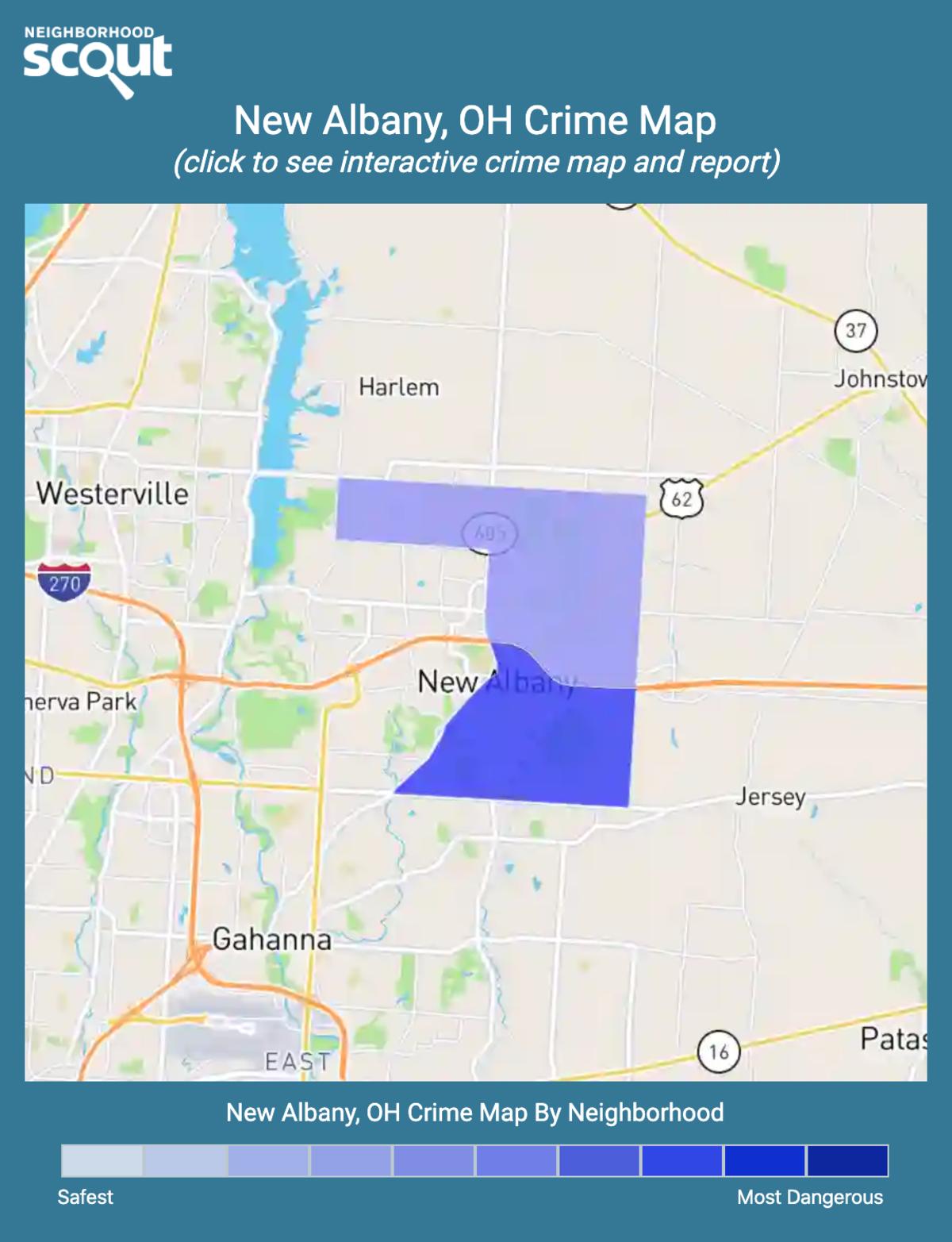 New Albany, Ohio crime map