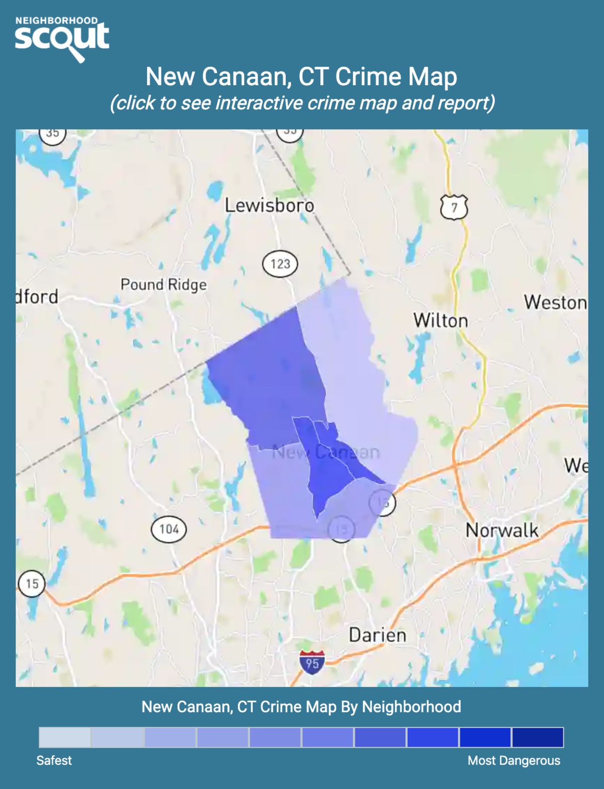 New Canaan, Connecticut crime map