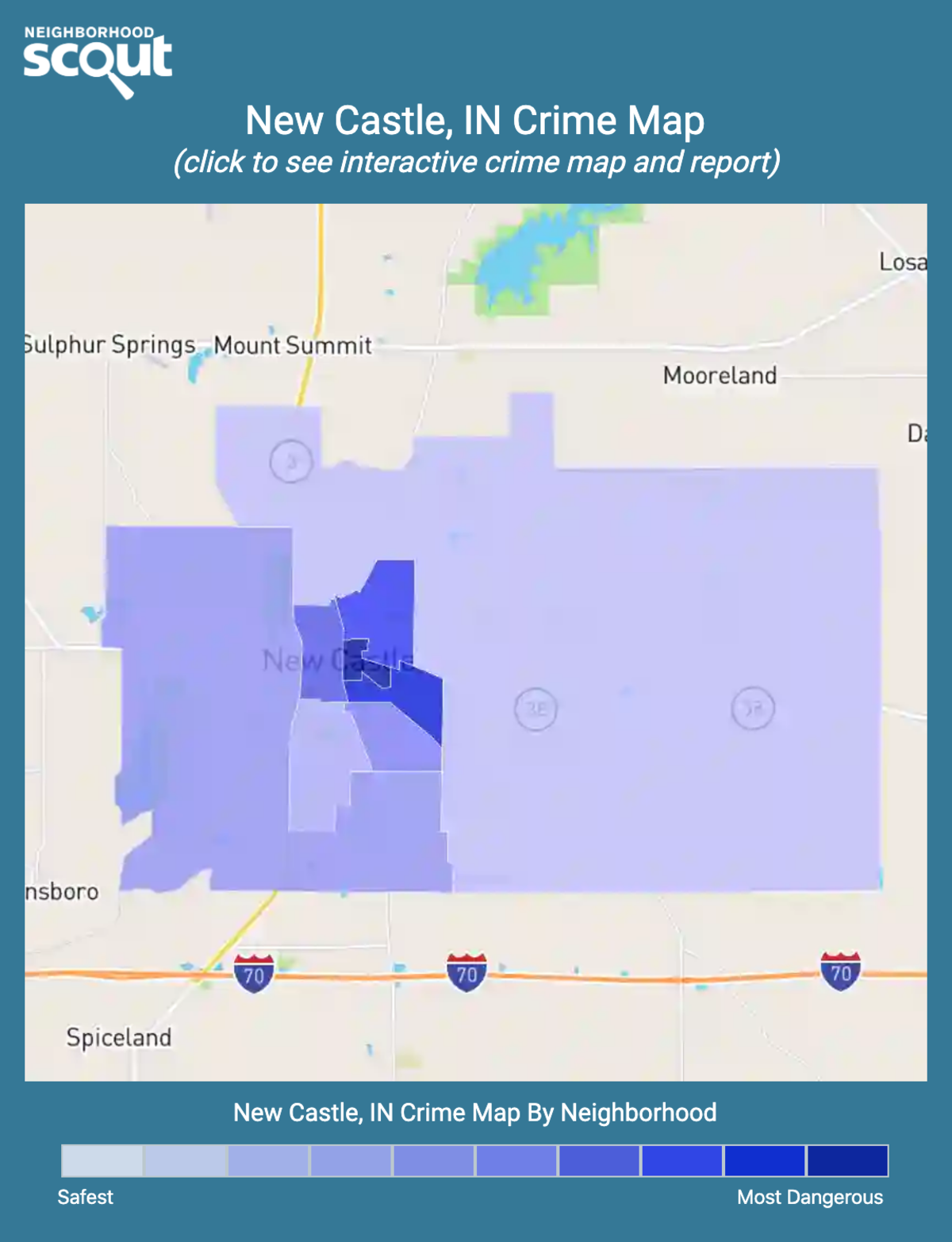 New Castle, Indiana crime map