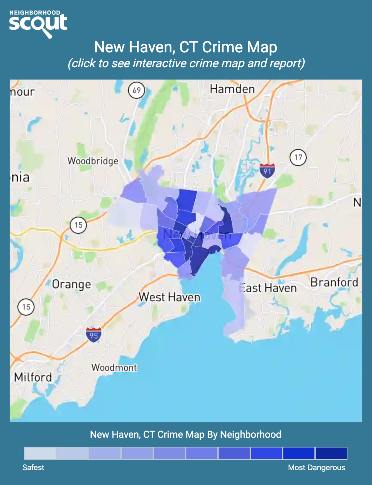 New Haven, Connecticut crime map