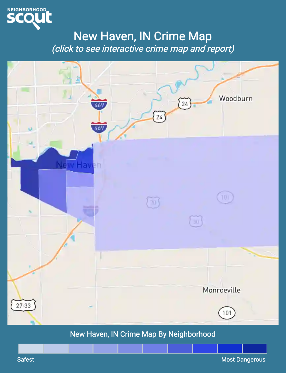 New Haven, Indiana crime map