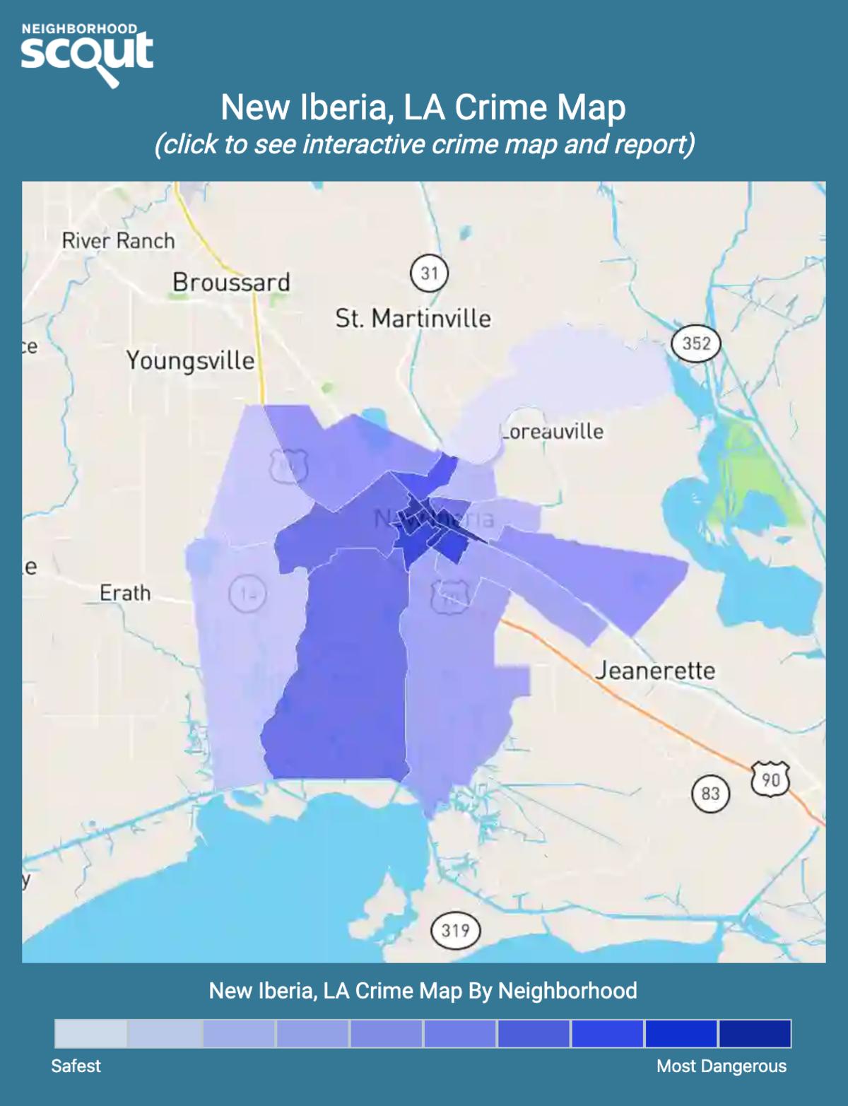 New Iberia, Louisiana crime map