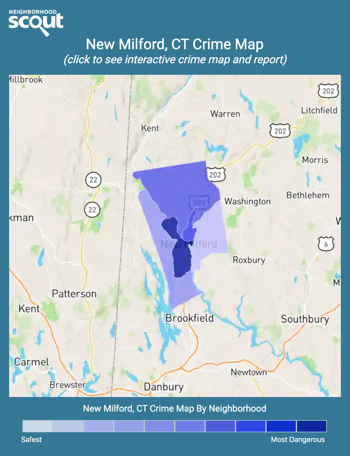 New Milford, Connecticut crime map