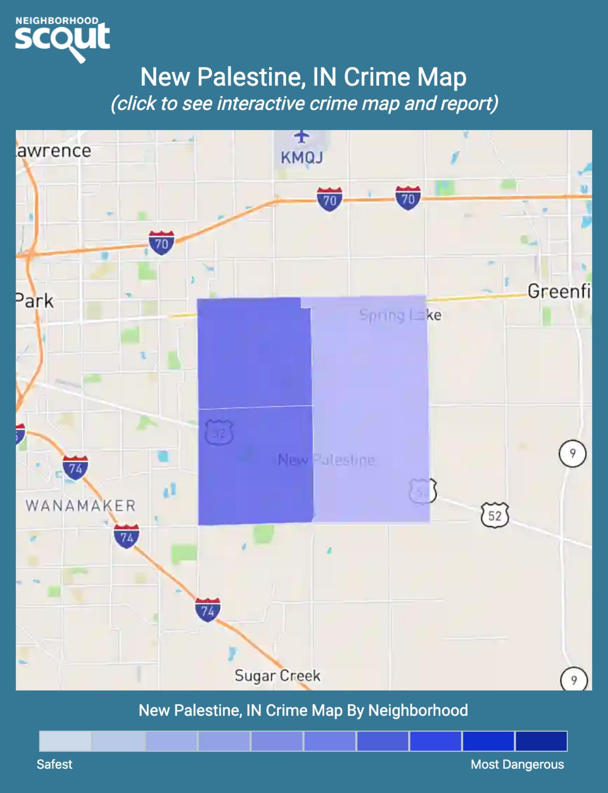 New Palestine, Indiana crime map