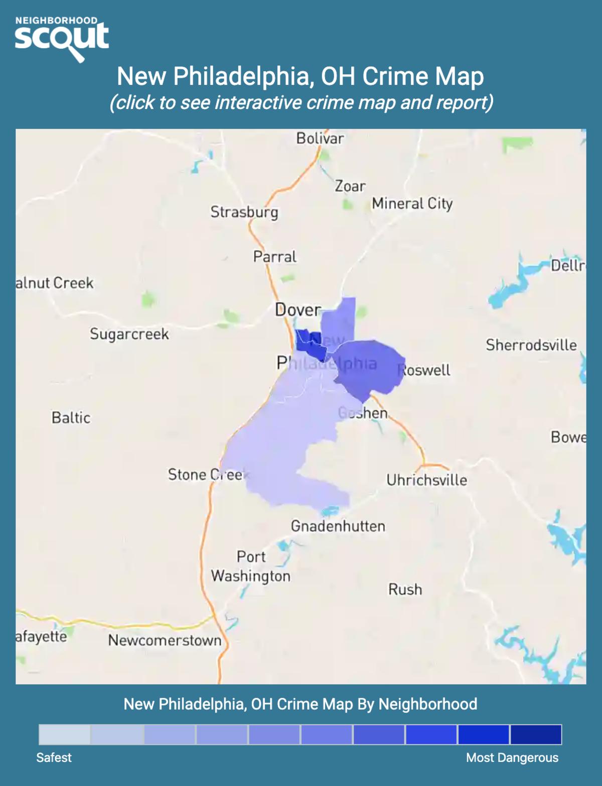New Philadelphia, Ohio crime map