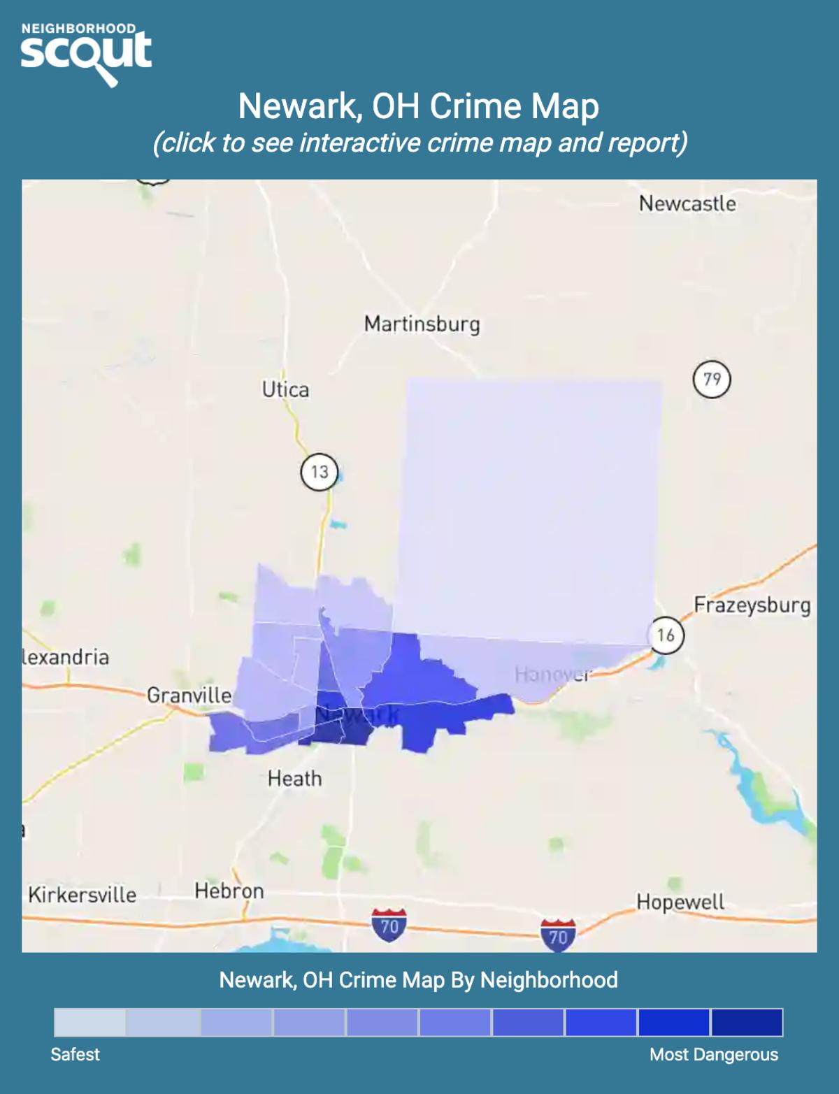 Newark, Ohio crime map