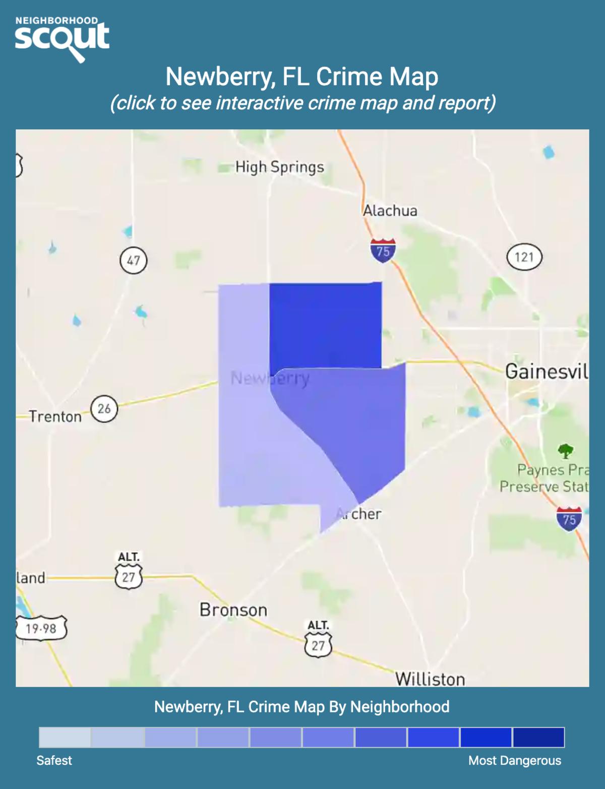 Newberry, Florida crime map