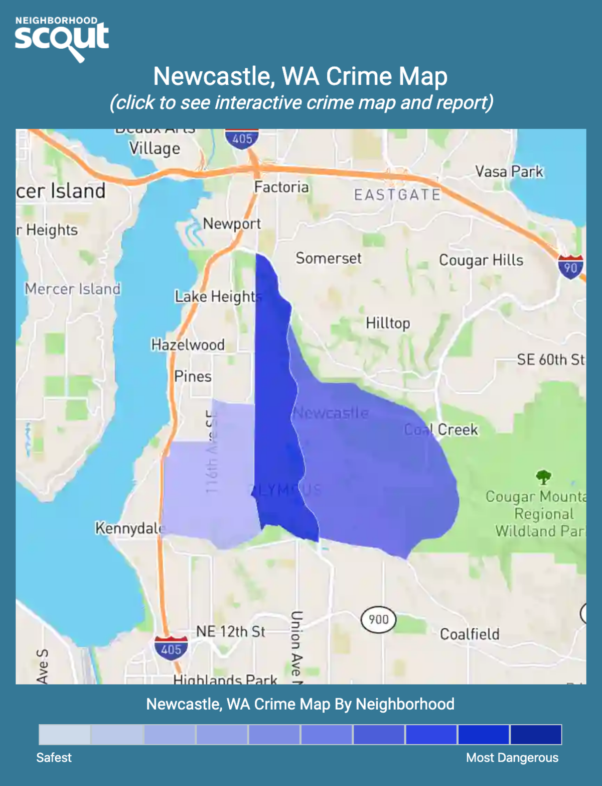 Newcastle, Washington crime map