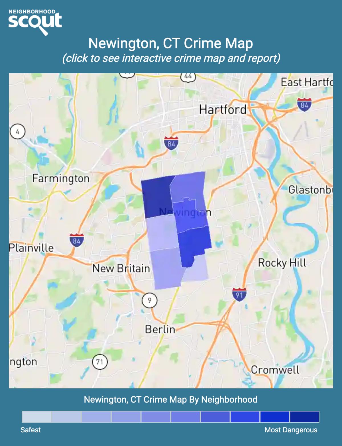 Newington, Connecticut crime map