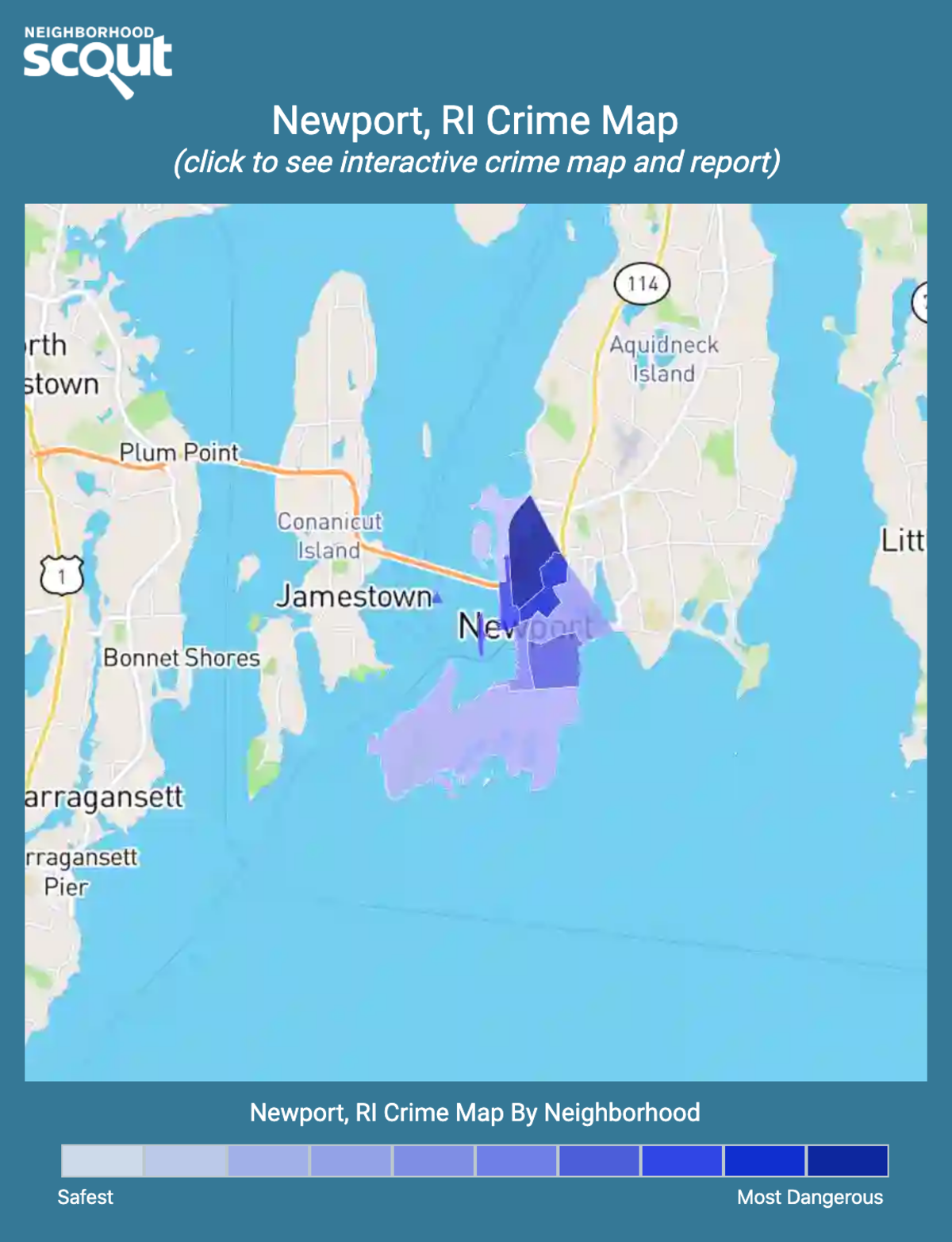 Newport, Rhode Island crime map