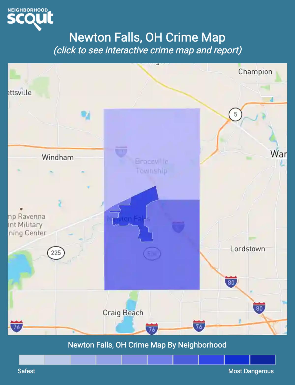 Newton Falls, Ohio crime map