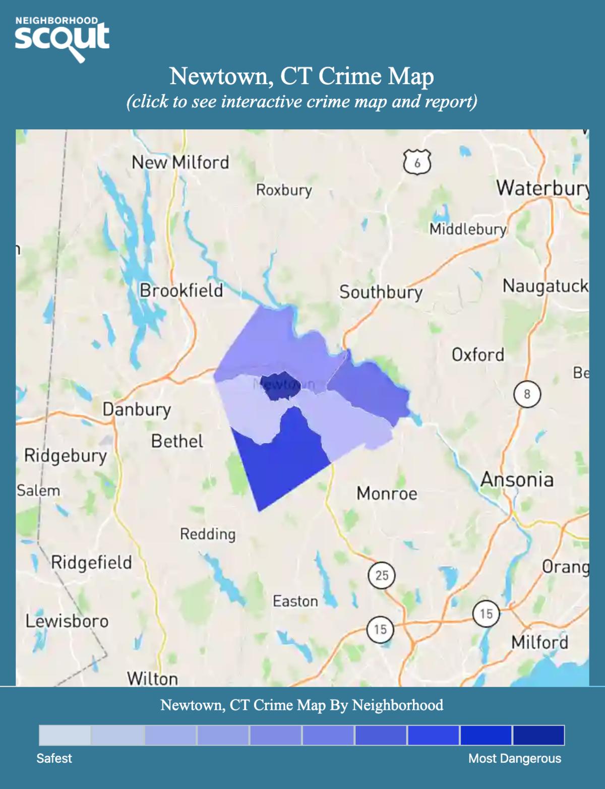 Newtown, Connecticut crime map