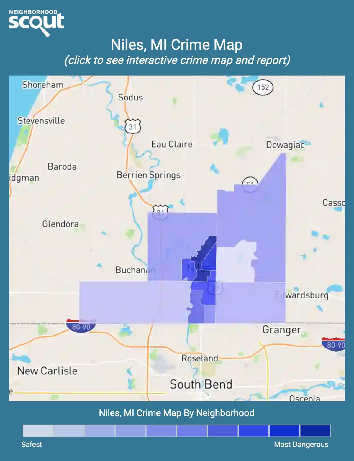 Niles, Michigan crime map
