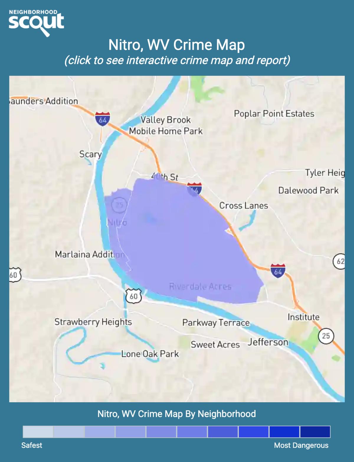 Nitro, West Virginia crime map