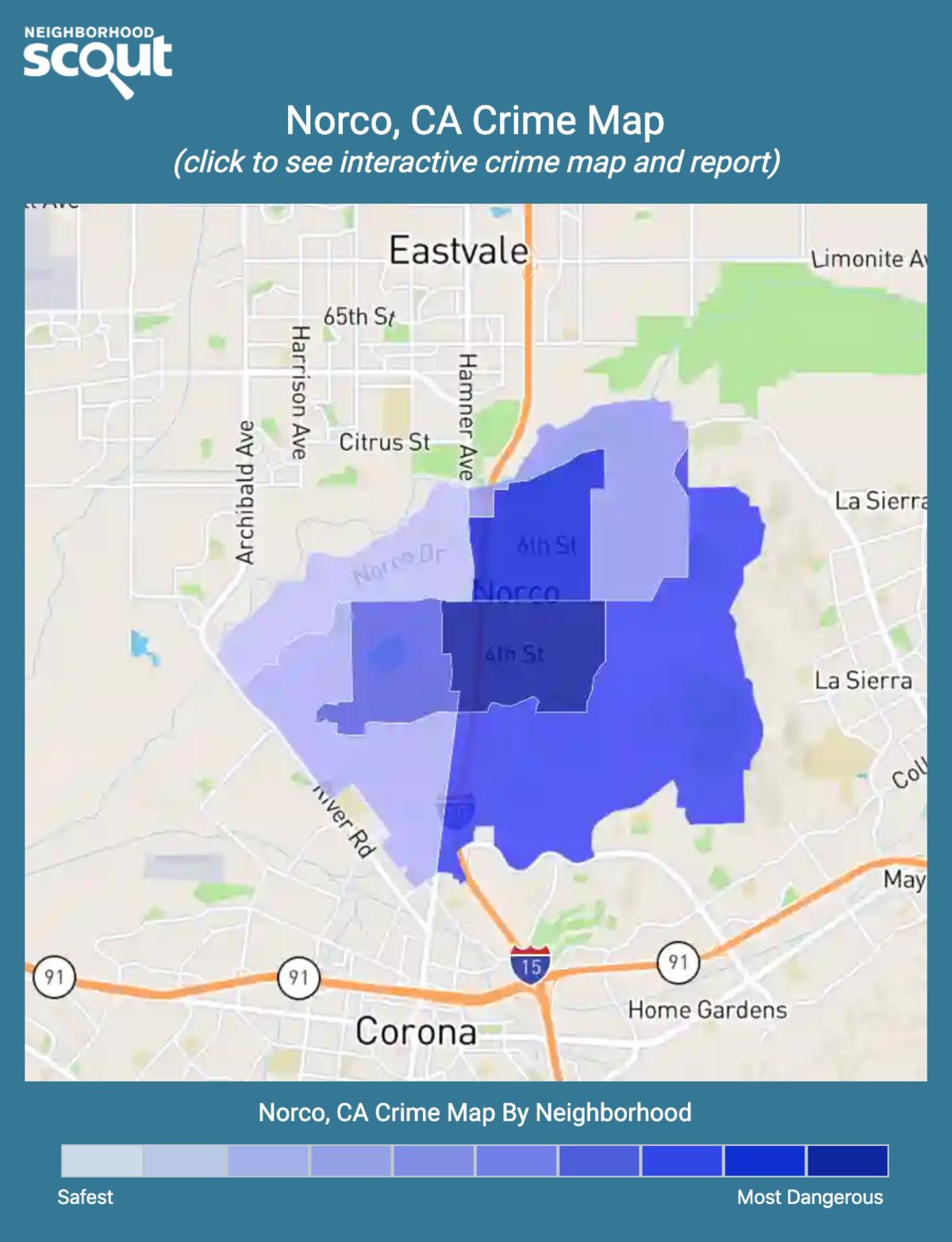 Norco, California crime map