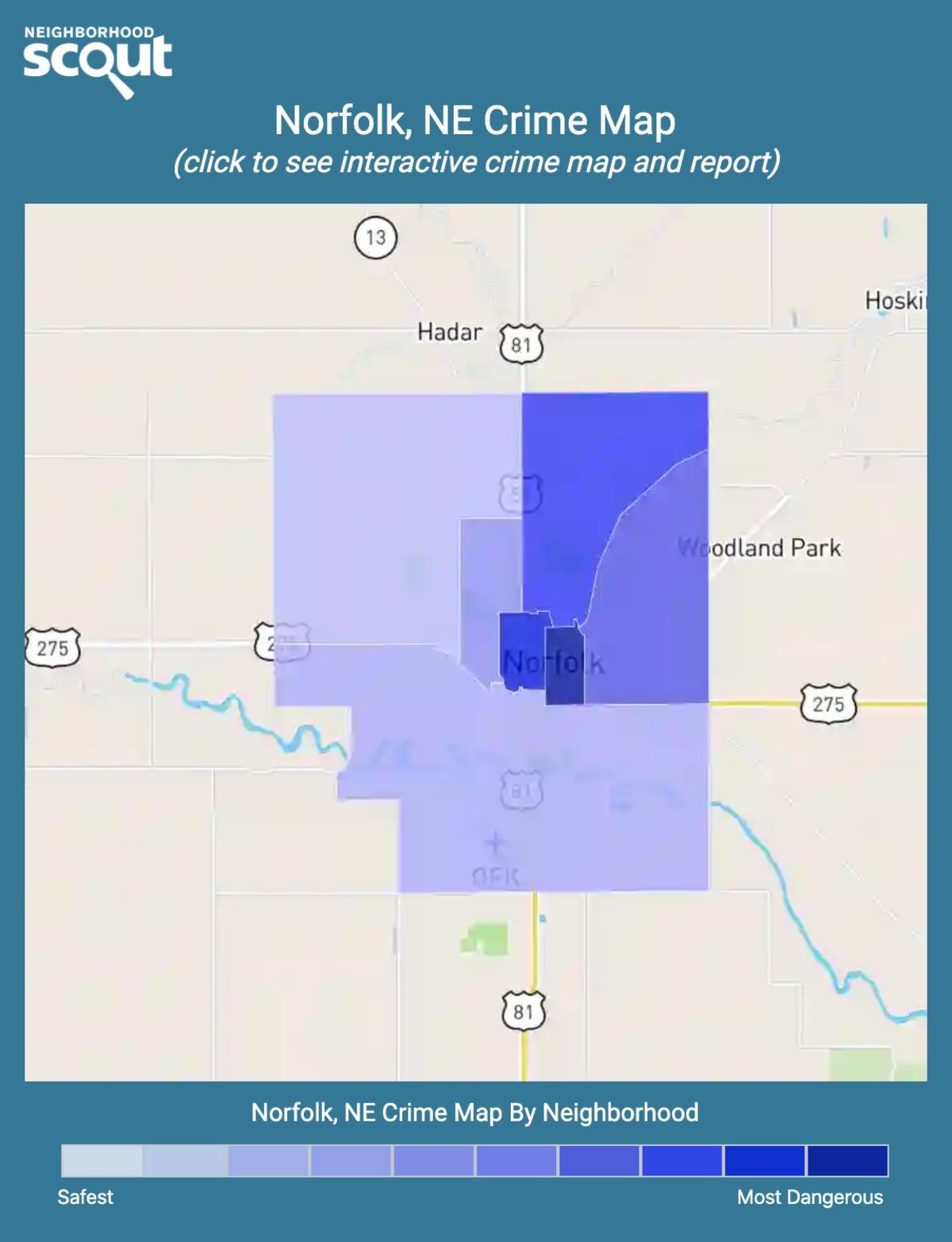 Norfolk, Nebraska crime map