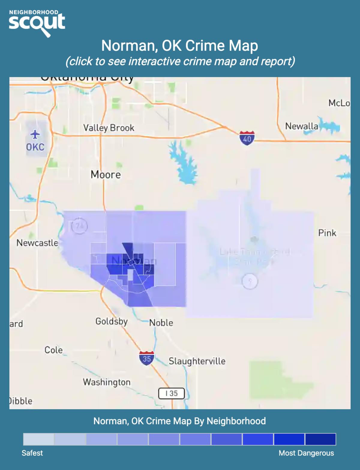 Norman, Oklahoma crime map